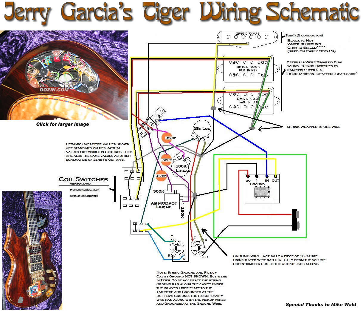 Jerry Garcia U0026 39 S Tiger Schematic