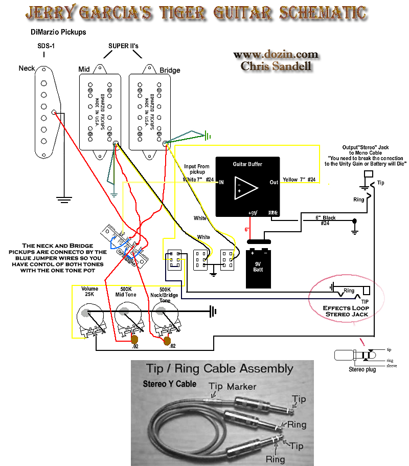 les paul wiring schematics jerry garcia tiger rosebud build my les paul forum